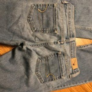 American Eagle stretch skinny flare jeans size 0 p